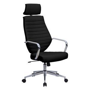 Eliza Tinsley Atlas High Back Leather Effect Designer Chair Black DD