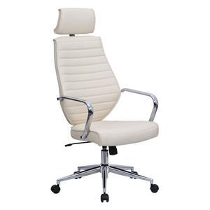Eliza Tinsley Atlas High Back Leather Effect Designer Chair Cream DD